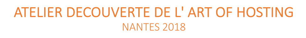 ATELIER DECOUVERTE DE L' ART OF HOSTING NANTES 2018